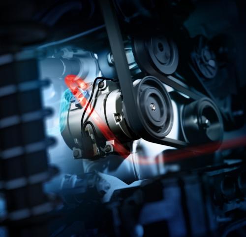 Компрессор системы кондиционирования с натяжителем ремня для автомобилей Opel Corsa