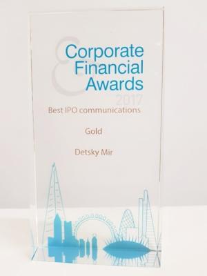 «Детский мир» стал обладателем престижной международной премии Corporate&Financial Awards