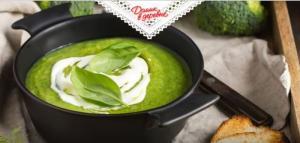 Крем-суп из брокколи и голубого сыра