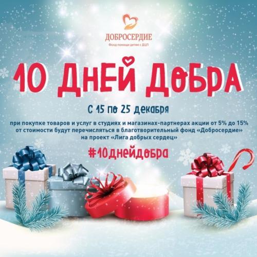 БФ Добросердие: Предновогодняя акция #10днейдобра!