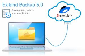 Exiland Backup 5.0: Резервное копирование файлов на Яндекс.Диск