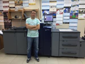 В типографии «Белый ветер» запущена вторая цифровая печатная машина Konica Minolta