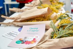 В мартовские праздники программа лояльности «Город» и проект «Московские центральные диаметры» дарили женщинам красоту