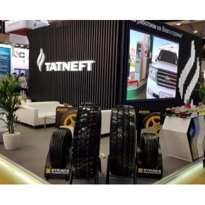 Гостям международной выставки «Нефтегаз-2019» представили ЦМК шины KAMA NT 701 производства KAMA TYRES