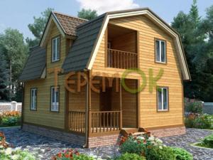 Строительство домов из бруса от компании Теремок