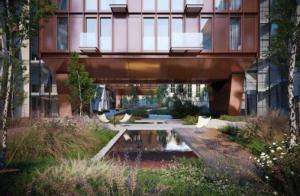 В клубных проектах Замоскворечья на квадратный метр жилья приходится 0,13 кв.м благоустроенной территории