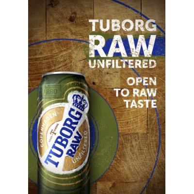 Новый сорт Tuborg – нефильтрованный лагер Tuborg RAW – появился в продаже
