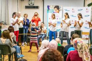 Российские гимнастки приехали поддержать детей с онкологическими заболеваниями