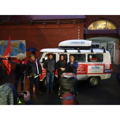 «Буханка» торжественно финишировала на «Красном Октябре».