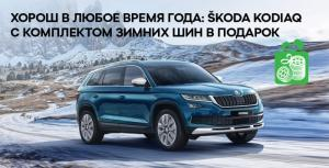 Прекрасен всегда: ŠKODA KODIAQ с комплектом зимних шин в подарок