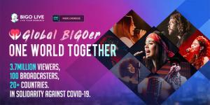 Bigo Live провёл благотворительную музыкальную трансляцию для ВОЗ, в которой приняли участие 3,7 млн зрителей из 150 стран