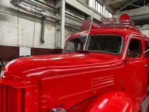 Автопробег раритетных пожарных автомобилей по улицам Москвы