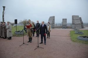 Михаил Романов принял участие в торжественно-траурной церемонии захоронения останков погибших защитников Отечества