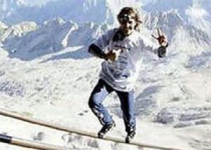 Канатоходец из Швейцарии установил мировой рекорд