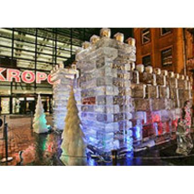 Дворец из льда появился в Латвии