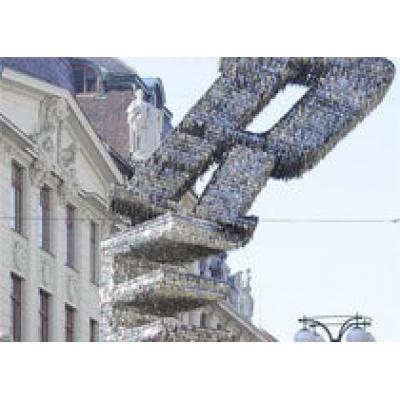 Памятник из ключей в Праге попал в Книгу рекордов
