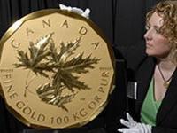 Золотая монета номиналом в миллион долларов - на аукционе