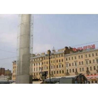 Башня Мира в Петербурге дала трещину