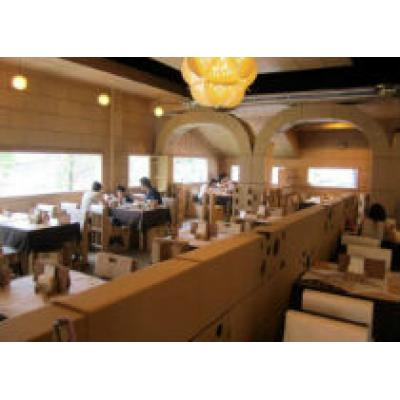 В Тайване открылся ресторан, полностью сделанный из картона