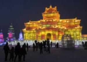В Китае открылась выставка ледяных фигур