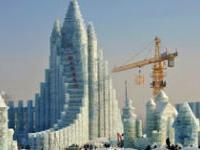 В китайском городе Харбин открывается фестиваль гигантских ледяных замков и скульптур