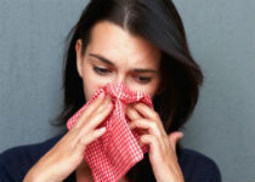 Макияж во время простуды