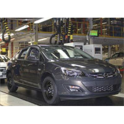 В Петербурге началось серийное производство седана Opel Astra