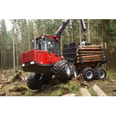 Компания Komatsu Forest представила журналистам систему отслеживания показателей и обмена данными между лесными машинами