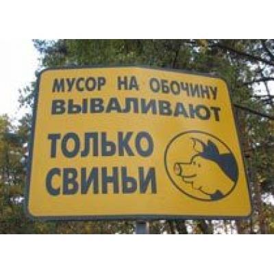За выброшенный мусор на обочину взимают штраф от 500 до 2500 рублей