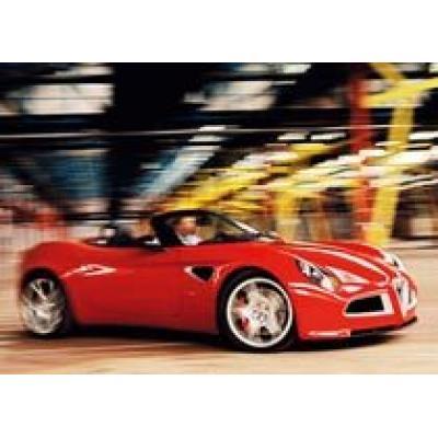 Открытый Alfa Romeo 8C выпустят в 2008 году