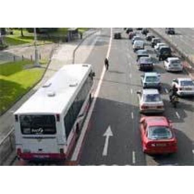 В Москве появятся полосы только для общественного транспорта