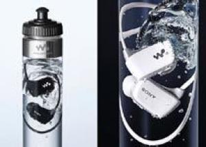Поступили в продажу MP3-плееры Sony в бутылках с водой