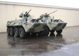 Премьера новых бронетранспортеров ООО `Военно-промышленная компания`