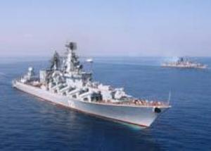 Крейсер `Москва` прошел Суэцкий канал и направился в Индийский океан