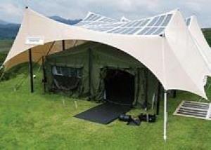 Армия США начала испытания тентов с солнечными панелями