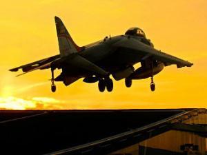 Британские истребители Harrier совершили прощальный полет