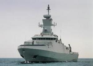 Начались испытания головного корвета класса `Хариф` для ВМС Омана
