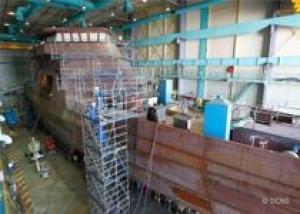 Корпус головного корабля `Говинд` для охраны морской экономической зоны построен в соответствии с графиком