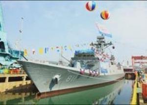 Южнокорейская компания Hyundia Heavy Industries спустила на воду первый фрегат проекта FFX, сообщает Korea IT Times