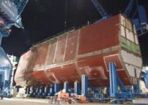 Завершено строительство самого сложного модуля корпуса нового эсминца типа `Зумволт` DDG-1000