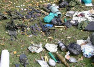 В Грузии найден тайный склад оружия и взрывных устройств