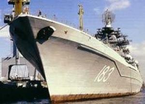 Тяжелый атомный ракетный крейсер `Петр Великий` совершил деловой заход в порт Лимасол (Кипр)