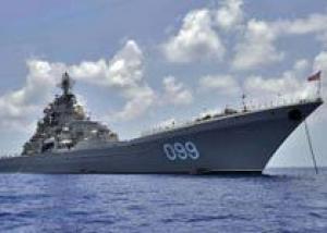 Крейсер СФ `Петр Великий` обеспечил безопасность перевозки партии сирийского химоружия