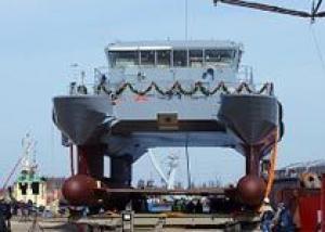 ВМС Латвии получили последний патрульный корабль типа Skrunda