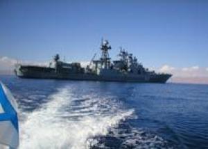 Большой противолодочный корабль `Маршал Шапошников` провел в Индийский океан конвой из пяти кораблей