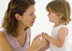 Мамины слова не помогают детям усвоить нормы поведения