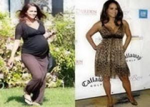 Женщина теряет вес после беременности за шесть месяцев
