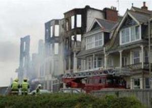 В Великобритании сгорел отель с отдыхающими англичанами