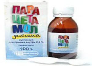Парацетамол вреден для детей