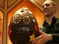 В Бразилии на Пасху продали гигантское шоколадное яйцо весом 160 кг за 7.210 долларов